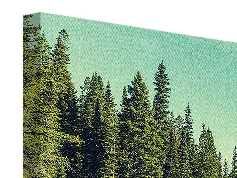 Leinwandbild Panorama Die Musik der Stille in den Bergen