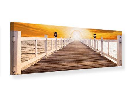 Leinwandbild Panorama Die Brücke Ins Glück