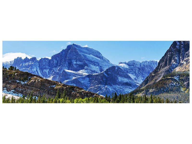 Leinwandbild Panorama Dem Gipfel entgegen