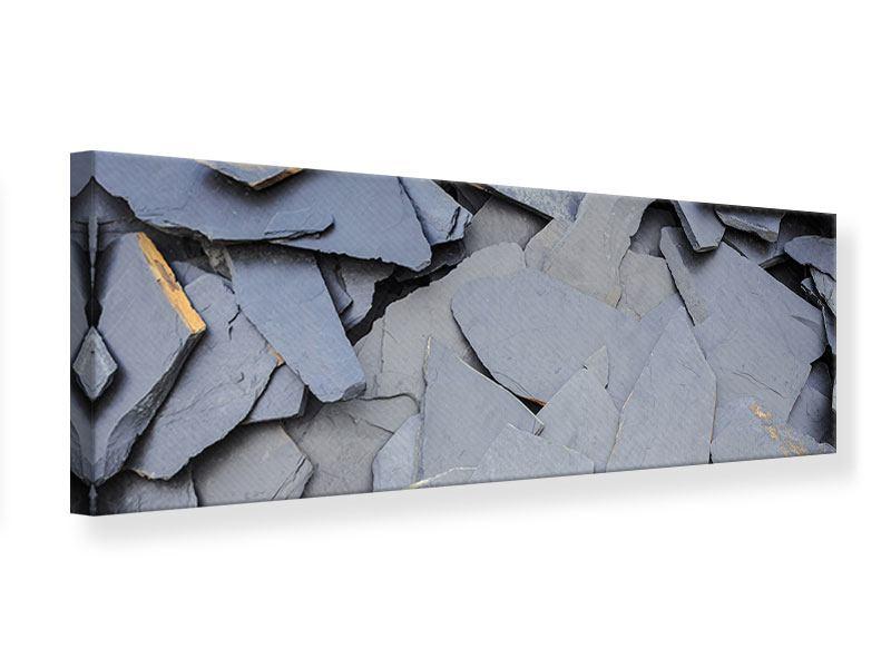 Leinwandbild Panorama Schieferplatten