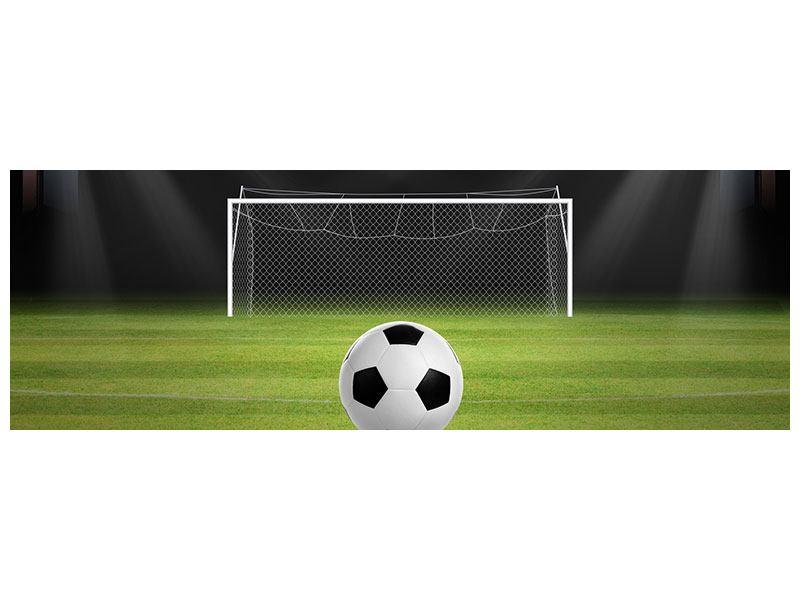 Leinwandbild Panorama Fussball-Tor