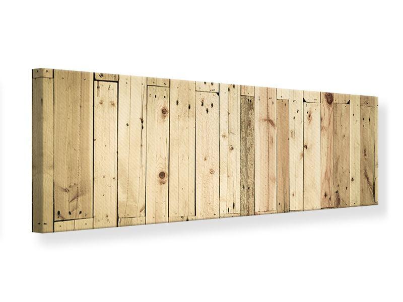 Leinwandbild Panorama Holzpaneelen