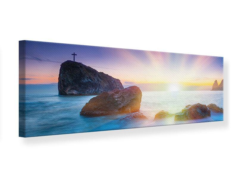 Leinwandbild Panorama Mystisches Meer