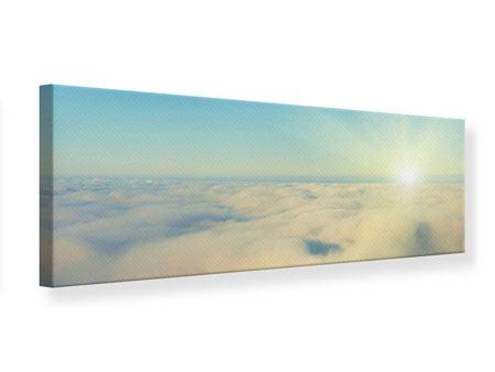 Leinwandbild Panorama Dämmerung über den Wolken