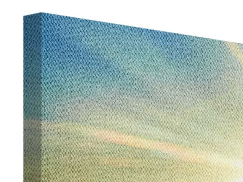 Leinwandbild Panorama Sonnenaufgang über den Wolken