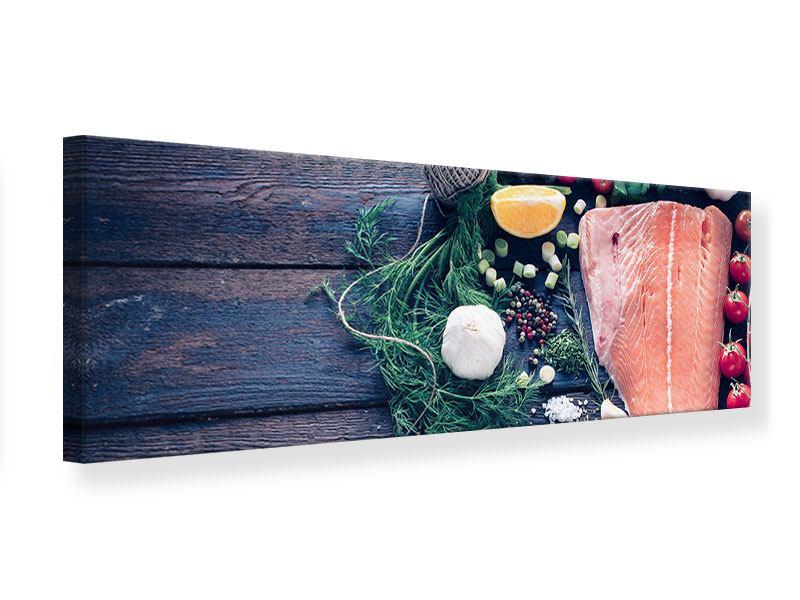 Leinwandbild Panorama Fangfrischer Fisch