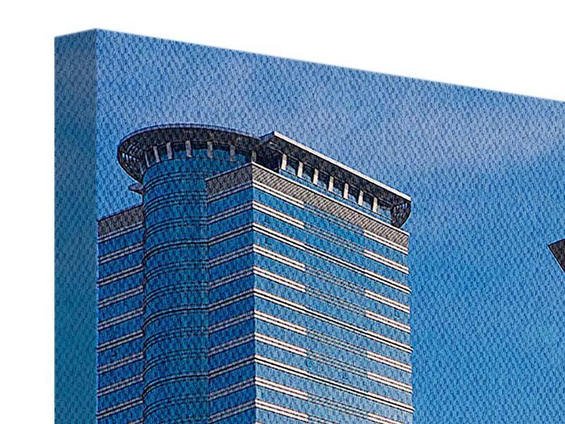 Leinwandbild Panorama Zwei Wolkenkratzer