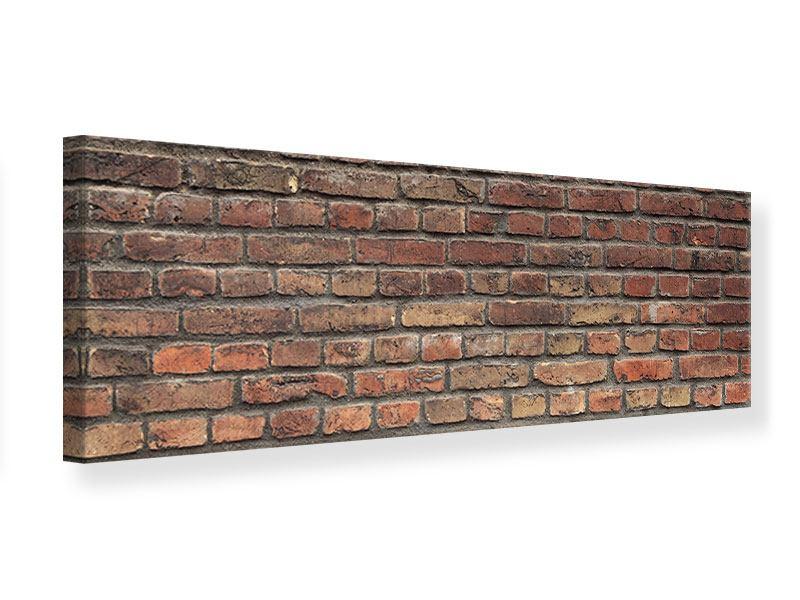 Leinwandbild Panorama Brick Wall