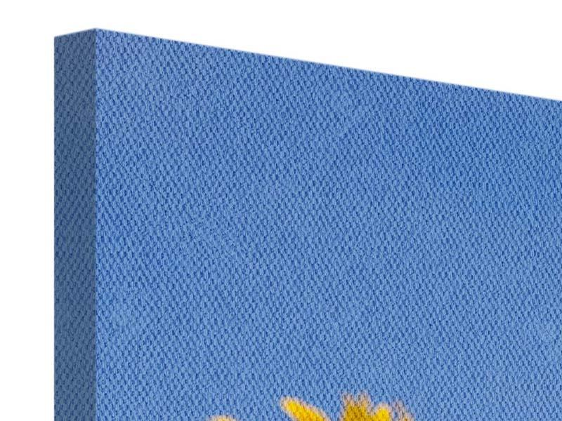 Leinwandbild Panorama Himmlische Sonnenblumen
