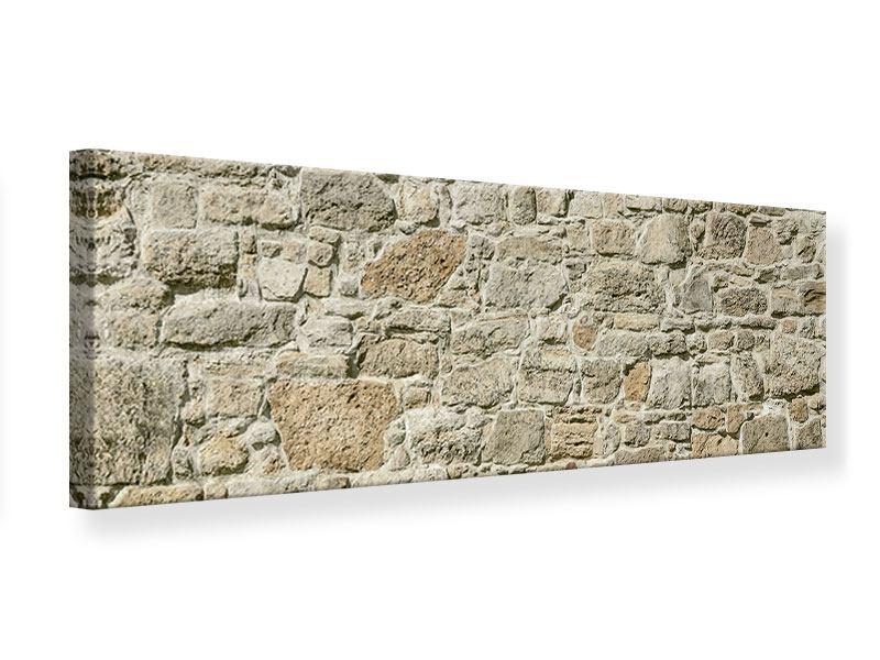 Leinwandbild Panorama Naturmauer