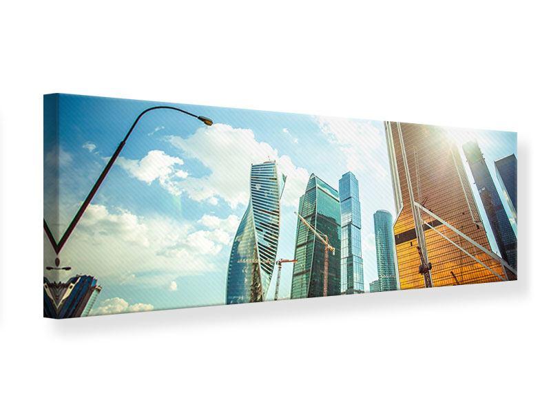 Leinwandbild Panorama Wolkenkratzer Moskau
