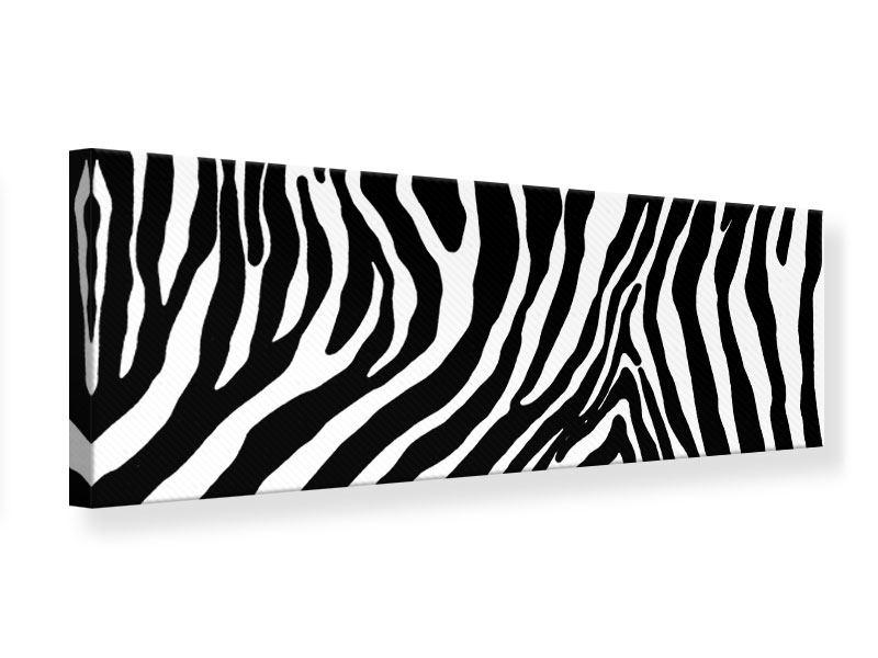 Leinwandbild Panorama Zebramuster