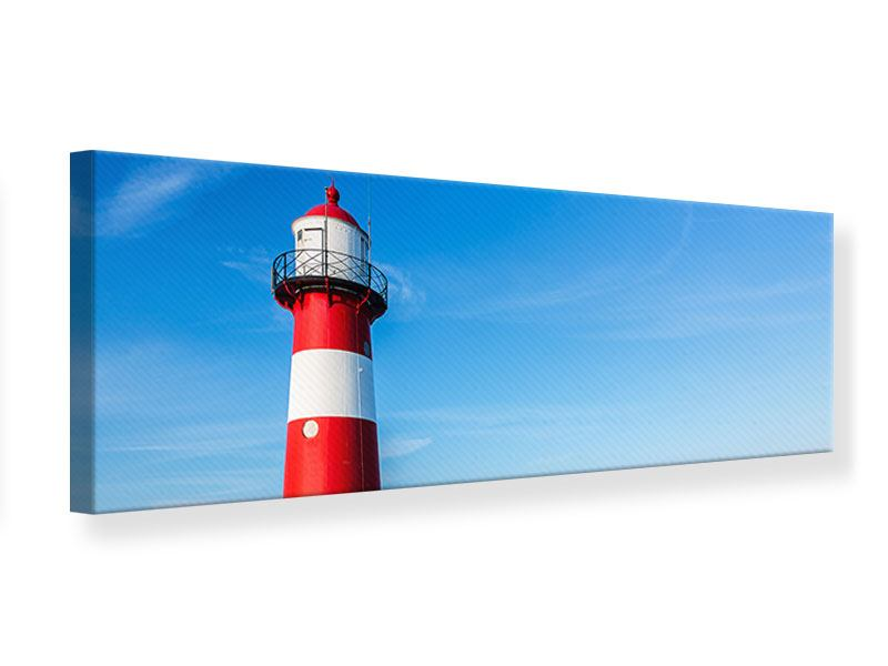 Leinwandbild Panorama Sommer beim Leuchtturm