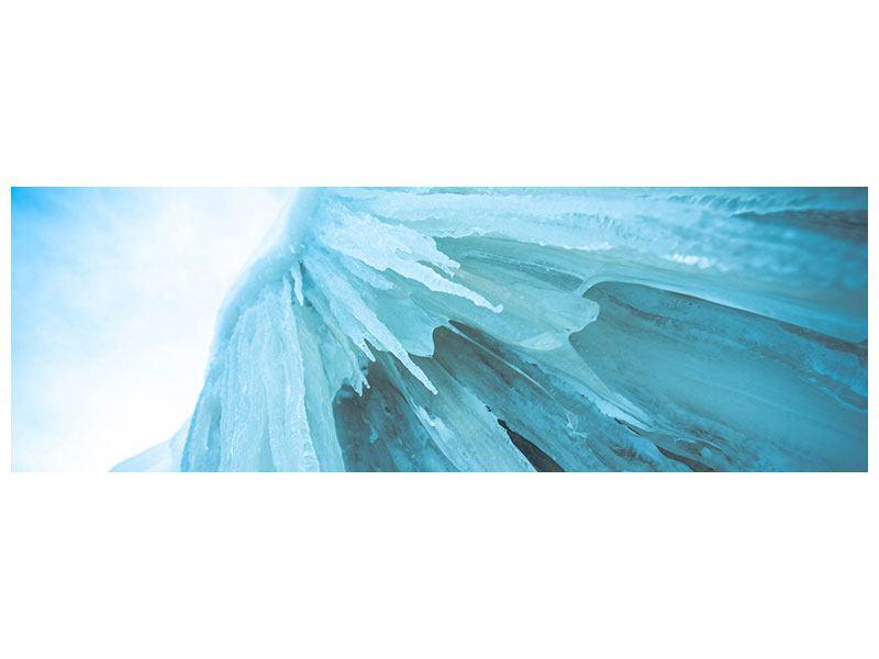 Leinwandbild Panorama Die Eiswand