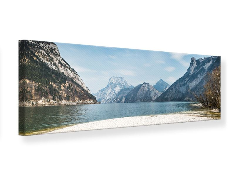 Leinwandbild Panorama Der idyllische Bergsee