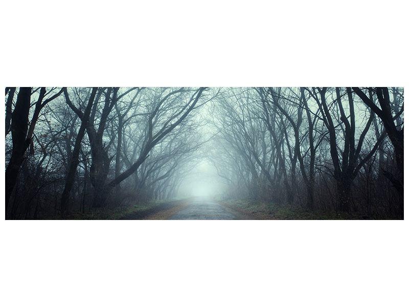 Leinwandbild Panorama Nebelwald