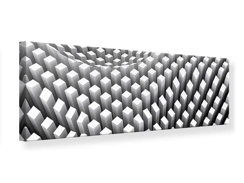 Leinwandbild Panorama 3D-Rasterdesign