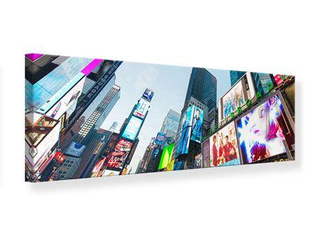 Leinwandbild Panorama Shopping in NYC