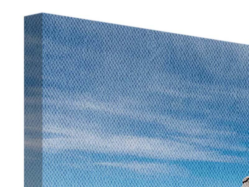 Leinwandbild Panorama Warten auf die Arche Noah