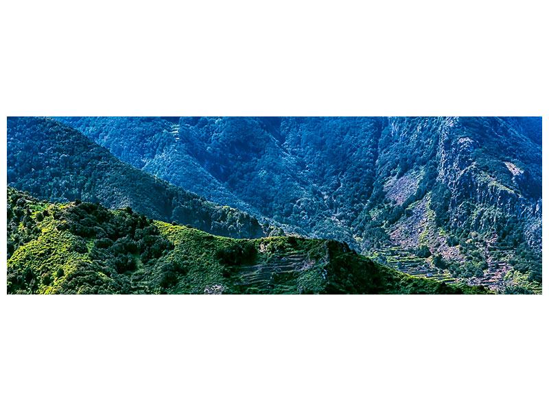 Leinwandbild Panorama Die Berglandschaft
