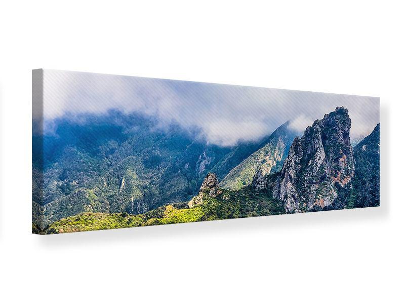 Leinwandbild Panorama Der stille Berg