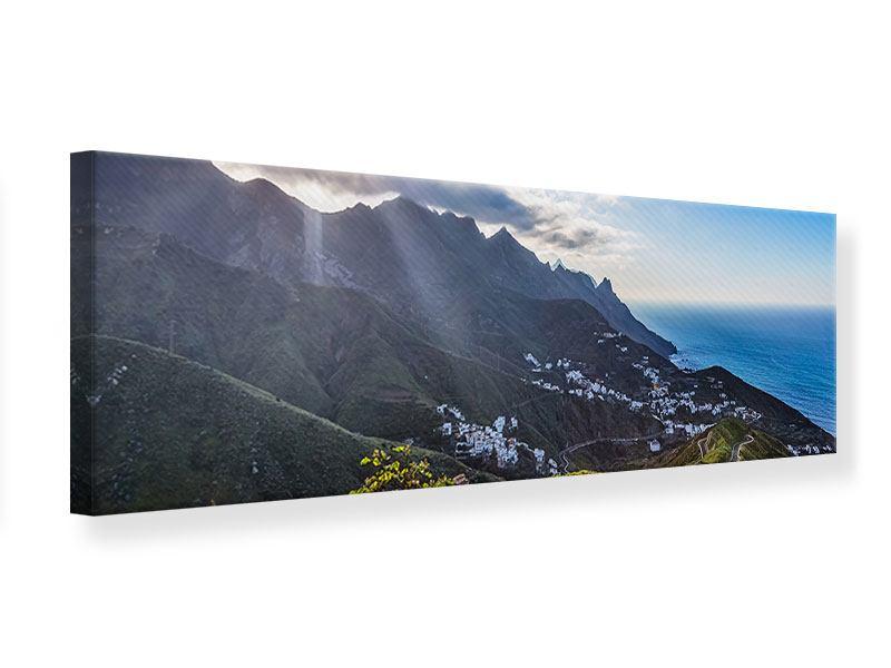 Leinwandbild Panorama Der Frühling in den Bergen
