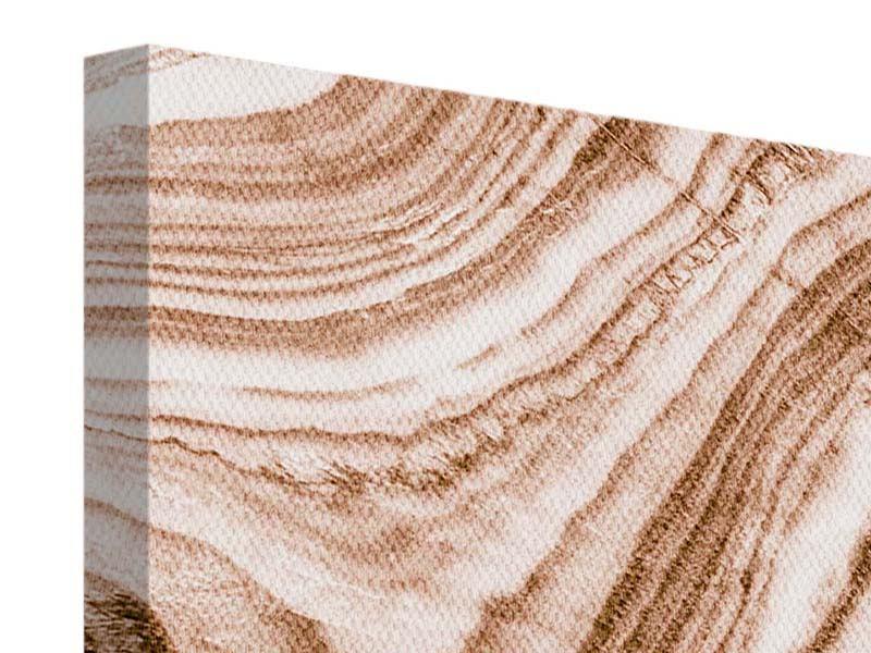 Leinwandbild Panorama Marmor in Sepia