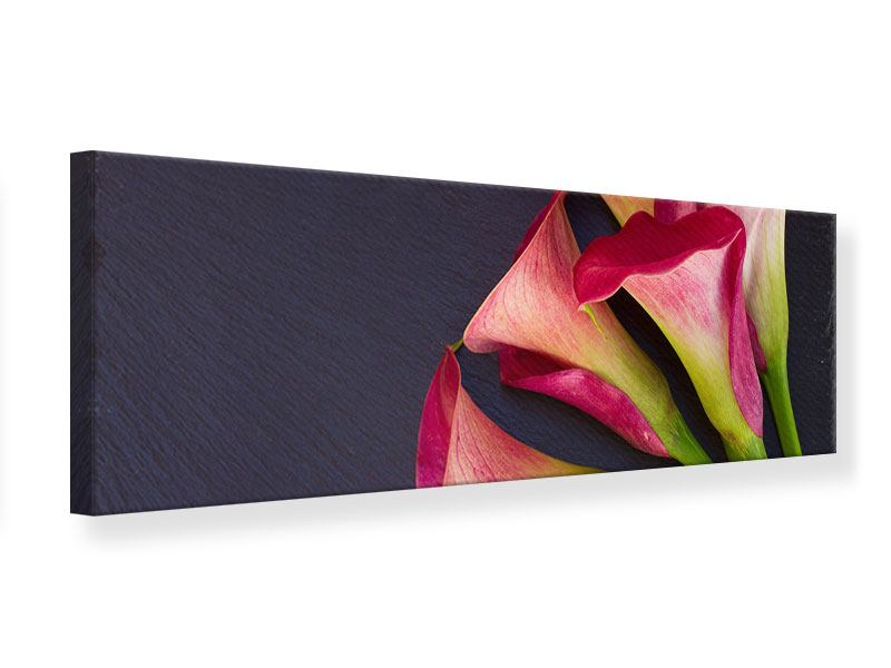 Panoramic Canvas Print Calla Bouquet