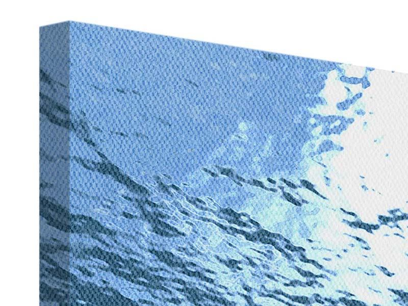 Leinwandbild Panorama Sonnenstrahlen unter Wasser