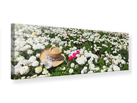 Leinwandbild Panorama Die Frühlingsblumenwiese