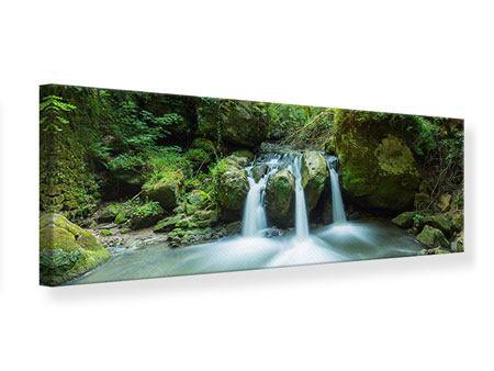 Leinwandbild Panorama Wasserspiegelungen