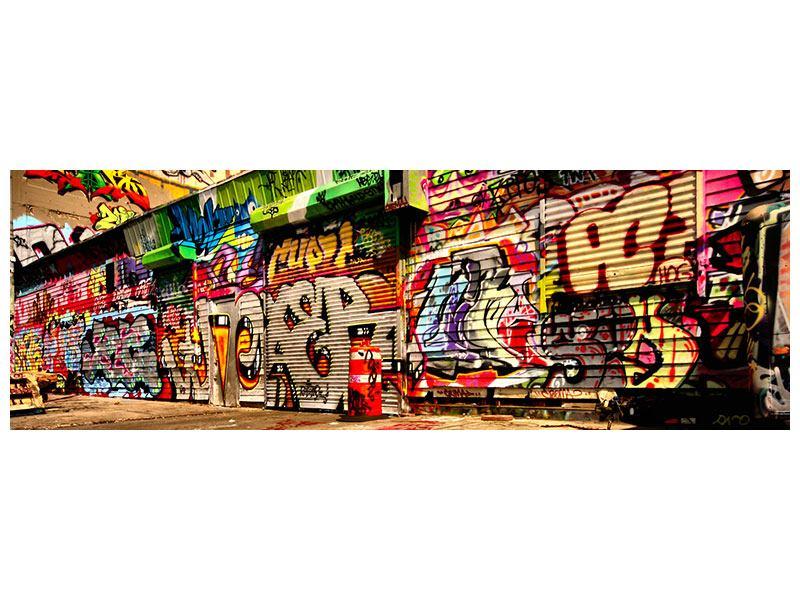 Leinwandbild Panorama NY Graffiti