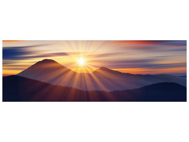 Leinwandbild Panorama Märchenhafte Landschaft