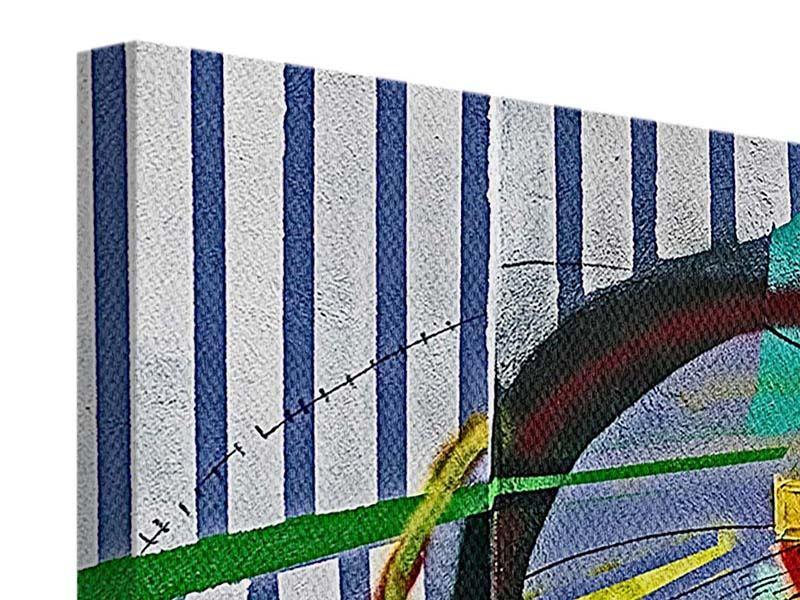Leinwandbild Panorama Künstlerisches Graffiti