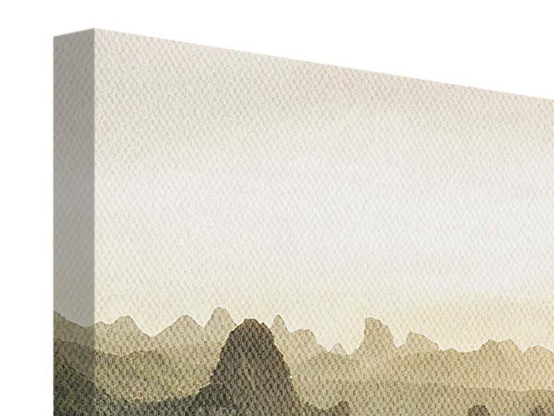 Leinwandbild Panorama Die Berge von Xingping