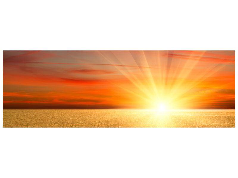 Leinwandbild Panorama Der Sonnenuntergang