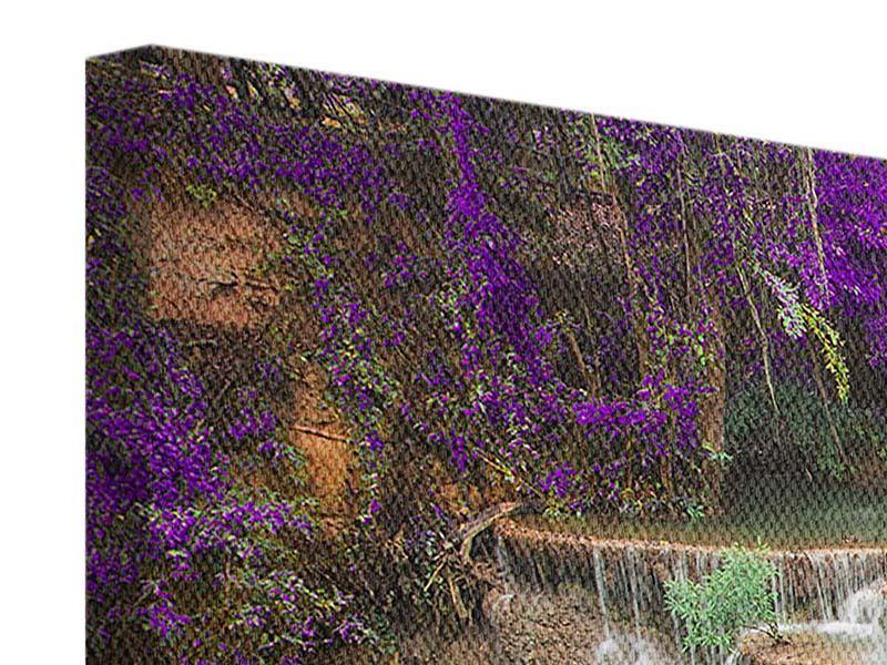 Leinwandbild Panorama Garten Eden