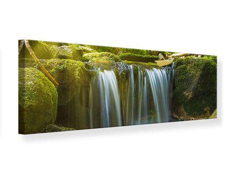 Leinwandbild Panorama Schönheit des fallenden Wassers