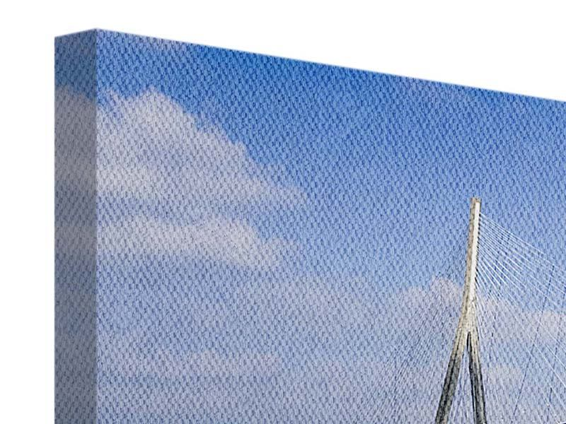 Leinwandbild Panorama Die Pont de Normandie