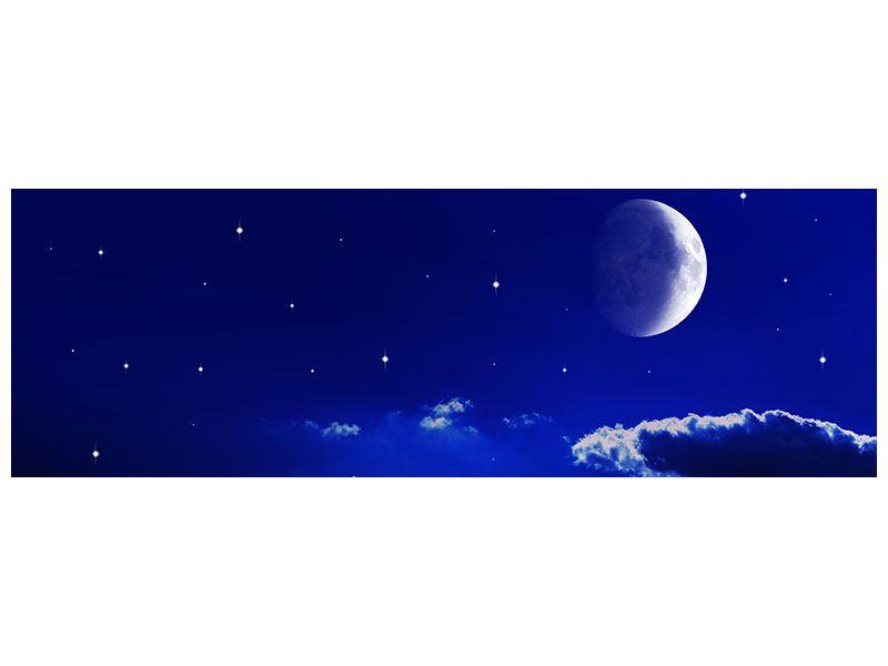 Leinwandbild Panorama Der Nachthimmel
