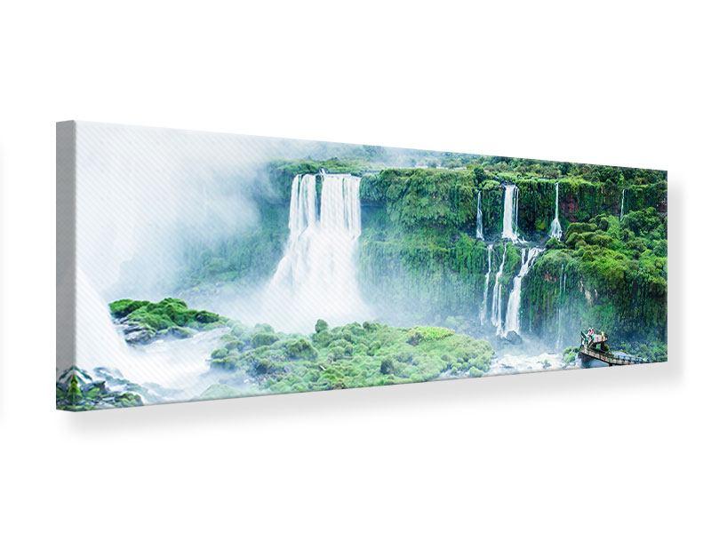 Leinwandbild Panorama Wasserfälle