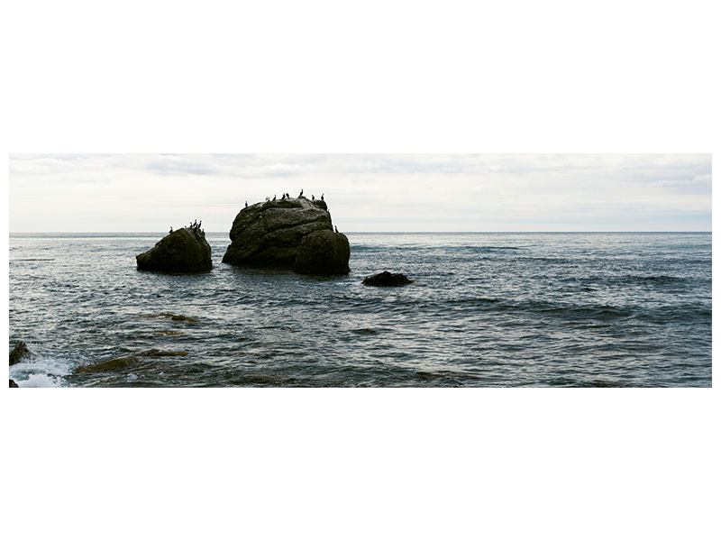 Leinwandbild Panorama Leise Wellen