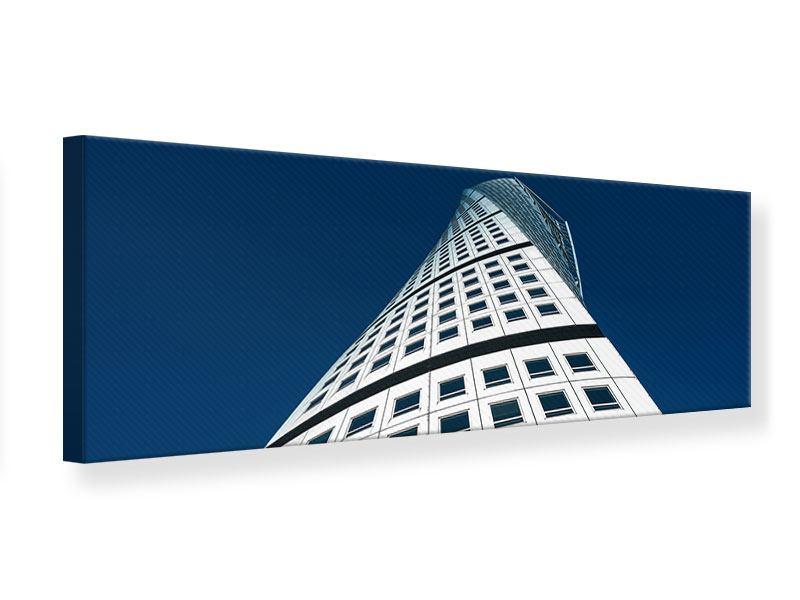Leinwandbild Panorama Meisterstück Wolkenkratzer