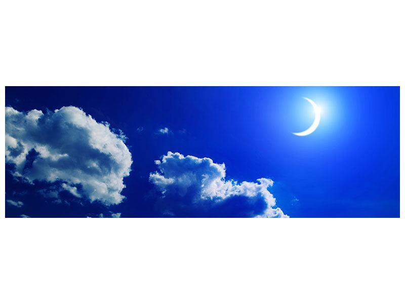 Leinwandbild Panorama Der Mond