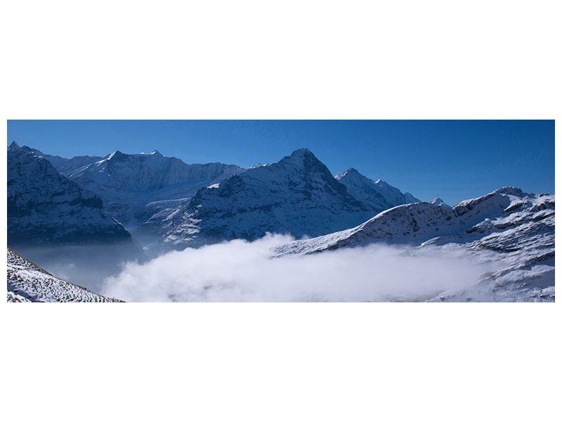 Leinwandbild Panorama Sonnenterrasse in den Schweizer Alpen