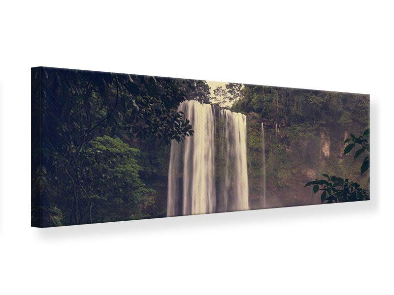 Leinwandbild Panorama Wasserfall in Mexiko