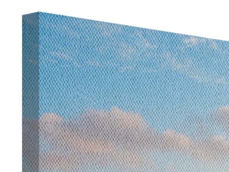 Leinwandbild Panorama Das blühende Lavendelfeld