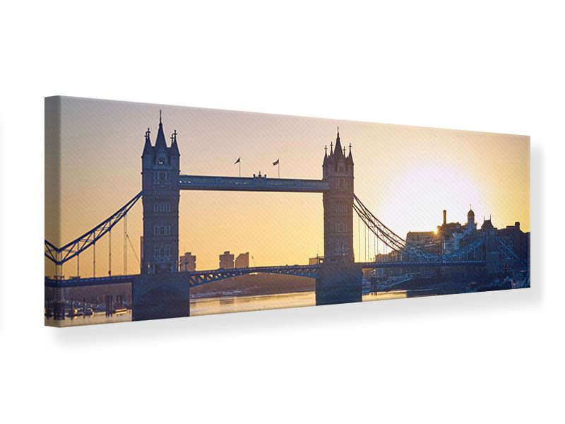 Leinwandbild Panorama Tower Bridge bei Sonnenuntergang