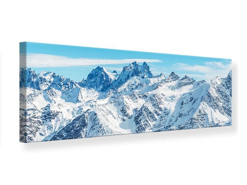 Leinwandbild Panorama Alpenpanorama