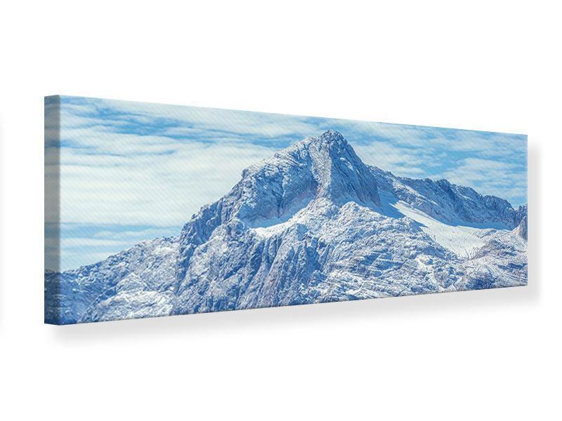 Leinwandbild Panorama Friedliche Bergstimmung